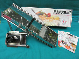 Original Bron Coucke PROFESSIONAL Stainless Steel MANDOLINE 20638CHB France