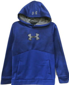 Boy's Under Armour Storm 1 Blue Hoodie Hooded Patterned Sweatshirt Medium 8 10 $13.99