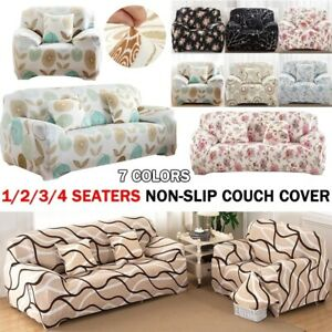 1 4 Seaters Universal Sofa Covers Couch Slipcovers Washable Furniture Protector