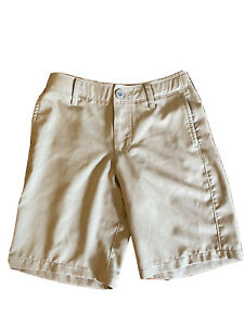 Under Armour Boys Match Play Golf Shorts Loose Fit Khaki Tan Size Youth Small $12.75