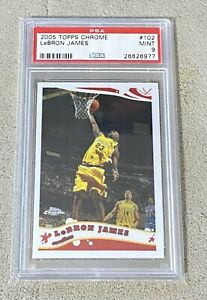 2005 Topps Chrome LeBron James #102 Cavaliers PSA 9 MINT