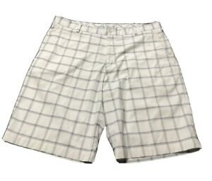 Nike Dri Fit Golf Shorts 36 x 10.5, White, Checks Blemished 080820E $19.98