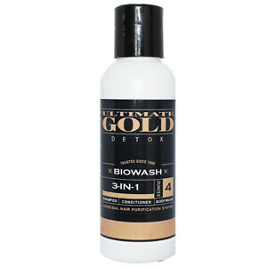 Detoxifying Hair Shampoo and Hair Conditioner Biowash Ultimate Gold Cleanse Kit $25.95