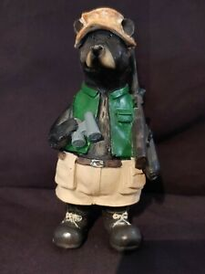 Bear Hunting With Gun Resin Figurine 6quot; Tall 3quot; Wide NEW