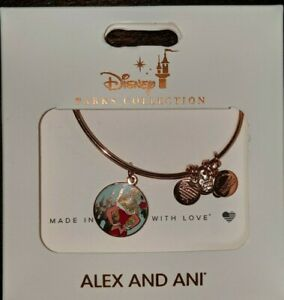 Disney Parks Alex and Ani Aurora True Love Conquers All Bracelet Rose Gold New $21.95