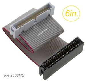 6quot; IDC 34 Pin Male to Card Edge 34 Pin Female 2.54mm Pitch 34 wire Extension