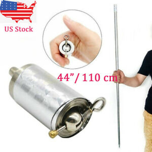 On Sales New 110cm 44quot; Silver Metal Portable Magic Pocket Telescopic Rod Staff $7.99