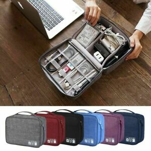 Travel Cable Bag Organizer Charger Storage Electronics USB Case Cord Accessories $12.99
