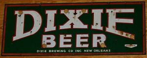 TIN SIGN quot;Dixie Beerquot; Beer Bar New Orleans Mancave Wall Decor