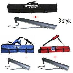 Archery Takedown Recurve Bow Bag Portable Carry Hunting Holder Arrows Quiver