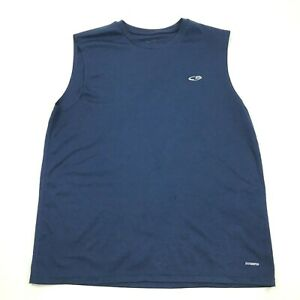 Champion Dry Fit Tank Top Shirt Mens Size Large L Blue Sleeveless Workout Gym $11.02