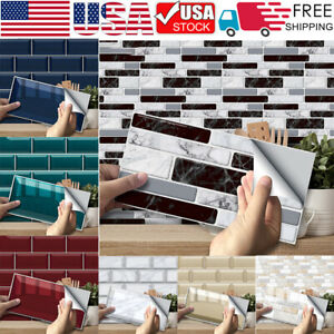 Up to 54PCS Self Adhesive Mosaic Tile 3D Sticker Kitchen Bathroom Wall Stickers $44.44