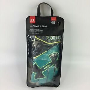 Under Armour Unisex Youth Armour Spine Keeper Gloves Teal Punch Green Size 6 NEW $22.02