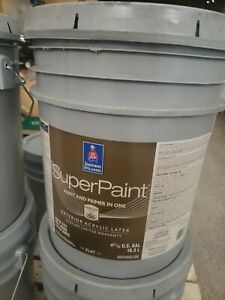 SHERWIN WILLIAMS PAINT amp; PRIMER IN ONE FLAT EXTRA WHITE EXTERIOR LATEX 5 GAL