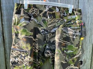 Men#x27;s Under Armour Field Ops Pants Forest Camo Hunting Size 30 32 1313212 940