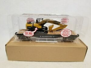 Menards O Gauge Pennsylvania Flatcar With Excavator With Lights amp; Sounds New