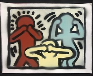 KEITH HARING * Original Graffiti On Paper Signed Numbered Certified MynBender $164.99