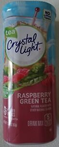 NEW CRYSTAL LIGHT RASPBERRY GREEN TEA DRINK MIX 10 QUARTS FREE WORLD SHIPPING $9.99