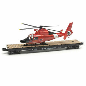 O GAUGE Coast Guard MILITARY FLATCARs WITH HELICOPTER LIONEL MENARDS