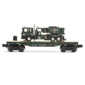 O GAUGE US ARMY MILITARY FLAT WITH US ARMY LIONEL MENARDS