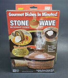 Stone Wave Microwave Cooker As Seen On TV Gourmet Dishes in Minutes