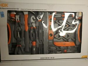 HDX 75 Piece Tool Set Home Owner Tool Set ** NEW **
