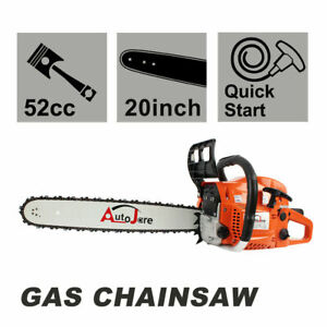 20quot; Gas Chainsaw 2 Cycle Wood Cutting Hand Tool 52cc 2 stroke Gasoline Chain Saw $99.00