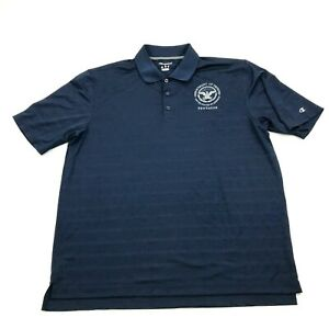 Champion Dry Fit Shirt PENTAGON Department Of Defense Polo Mens Size Large Blue $23.02