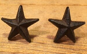 Cast Iron Nail Star 2quot; wide Western Decor Set of Two 02111