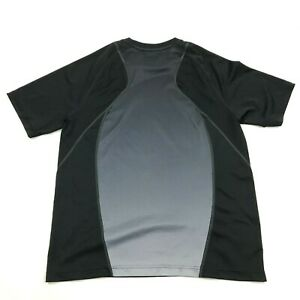 FILA Dry Fit Shirt Size Medium Black Gray Tee Fitness Workout Athletic Leisure $18.77
