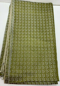 25quot; x 42quot; Green amp; Gray Lining Fabric with Small Design