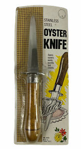 Vintage Oyster Knife Homecraft Travco Stainless Steel 1987 New In Package $22.49
