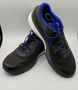 Under armour shoes Mens 12 UA Charged Escape 3 Black Blue Running sports outdoor $80.00
