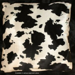 Cow Print Western Pillow Cover Pillow 18x18 set of 2 $15.00