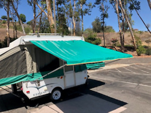 11ft Awning Green Pop Up Tent Trailer Camping Trailer RV. by EZ Lite Campers