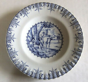 Large Dish Hunting 13 13 16in Atelier Lallier Moustiers Ste Marie Decor Hand