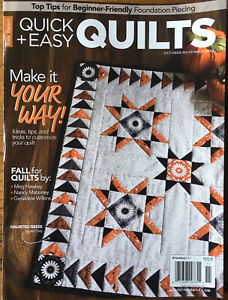 Fons amp; Porter#x27;s Quick amp; Easy Quilts Oct Nov 2020 Autumn Halloween Fall Quilts $4.99