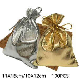 100Pcs Gift Bags Candy Bag Wedding Favors Bags Cloth Gift Pouch Pack Accessory