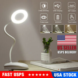 5W USB Clip On Desk Lamp 18 LEDS Flexible Reading light Dimmable Table Lamps USA