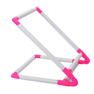 Cross Stitch Frame Portable Handheld Square Embroidery Hoop Sewing Rack Stand C $34.32
