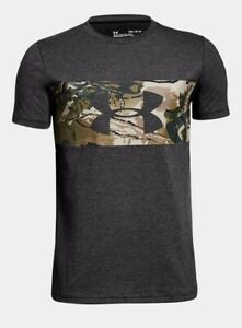Boys Under Armour Branded Camo T Shirt.Size:Youth Medium.Color:Charcoal $15.00