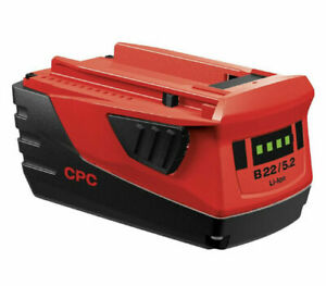 Hilti B22 5.2ah21.6 Volt Li ion Battery BRAND NEW .