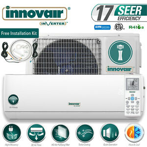 12000 BTU Mini Split Air Conditioner Heat Pump Ductless 230V INNOVAIR 17 SEER