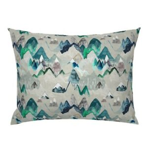 Mountain Adventure Camping Rustic Painting Watercolour Pillow Sham by Roostery
