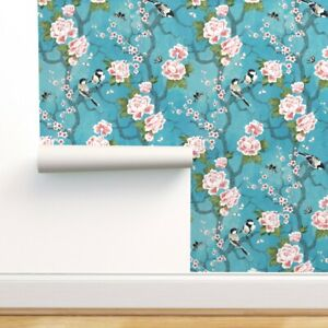 Wallpaper Roll Chinoiserie Challenge Chinese Oriental Turquoise 24in x 27ft