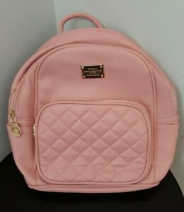 Pink Backpack Purse Small Leather Backpack Purse