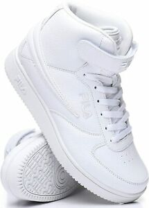 Fila A High Top Textile Leather Mens Shoes Sneakers White Ankle Strap Size 8 13 $47.95