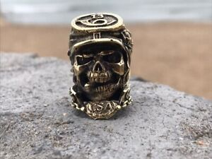 Confederate skull bead handmade for kniveskeychain and paracord.