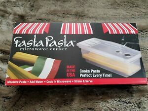 Microwave Pasta Cooker The Original Fasta Pasta Clear No Mess No Sticking