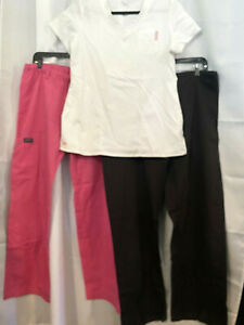 Lady#x27;s Scrubs Lot of 3 NrgUrbane 1 top amp; 2 pants Size Med